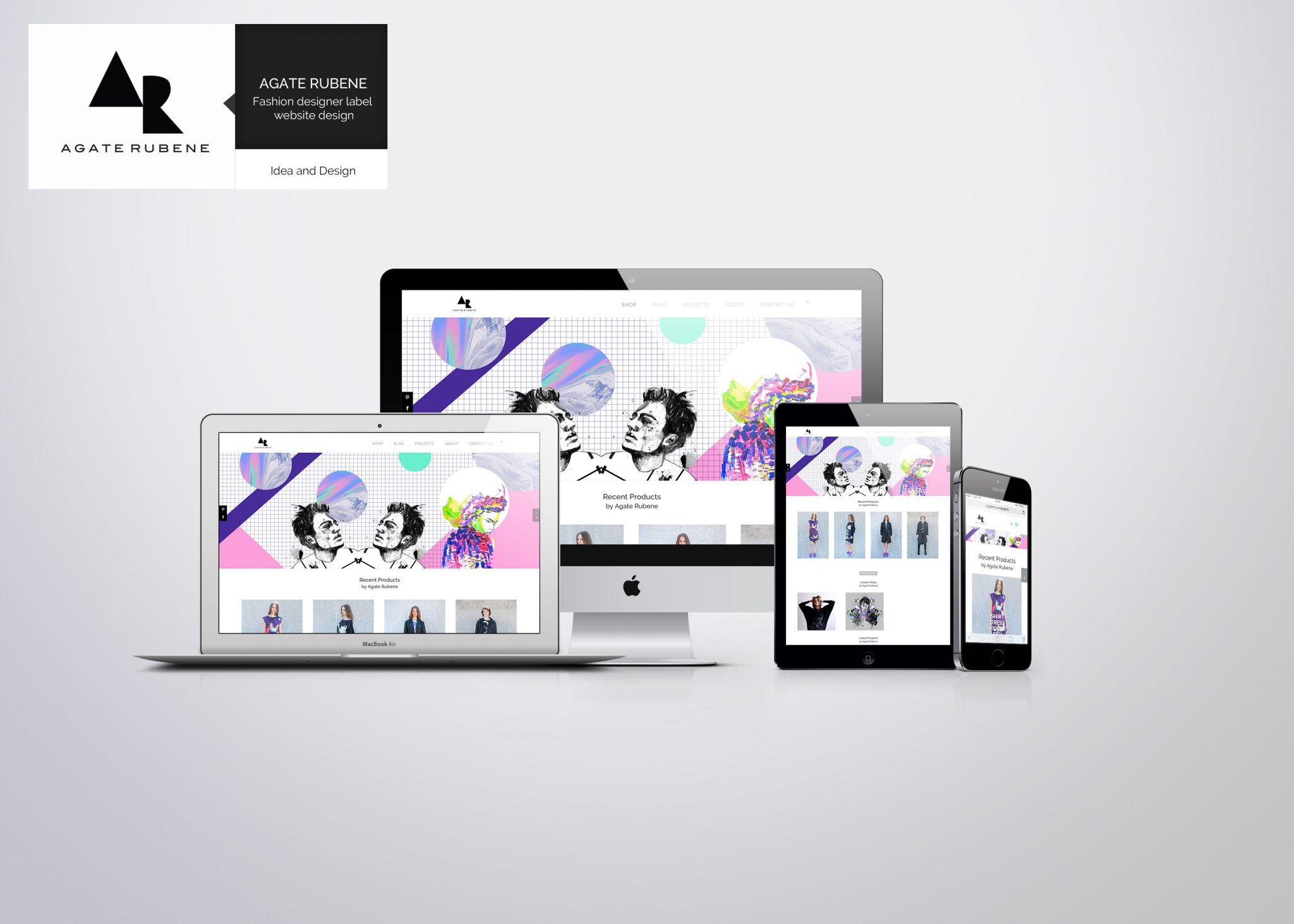 Self branding, website design and illustrations for my clothing label AGATE RUBENE