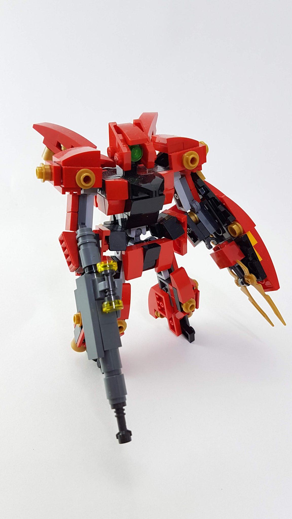 Lego Moc from Sinanju and Psycho Zaku Combined