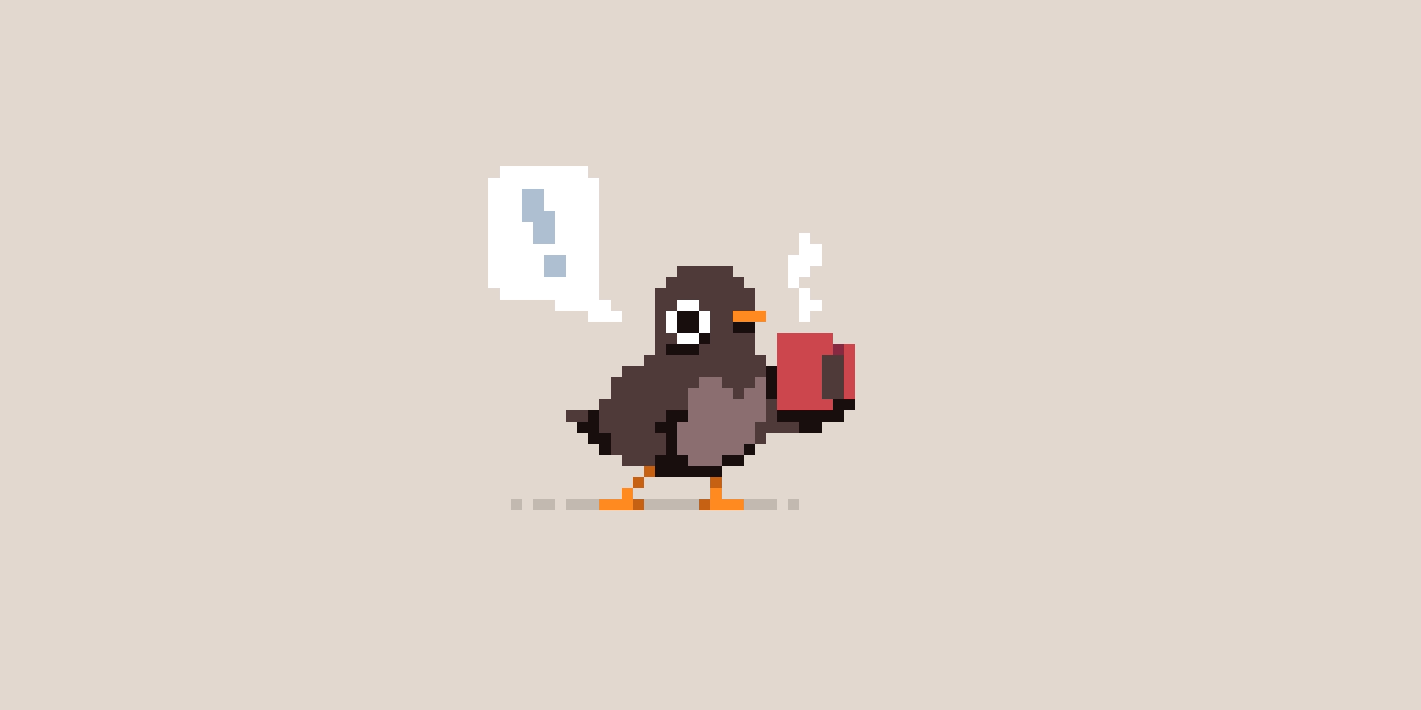 Pixel Art - Morning Bird