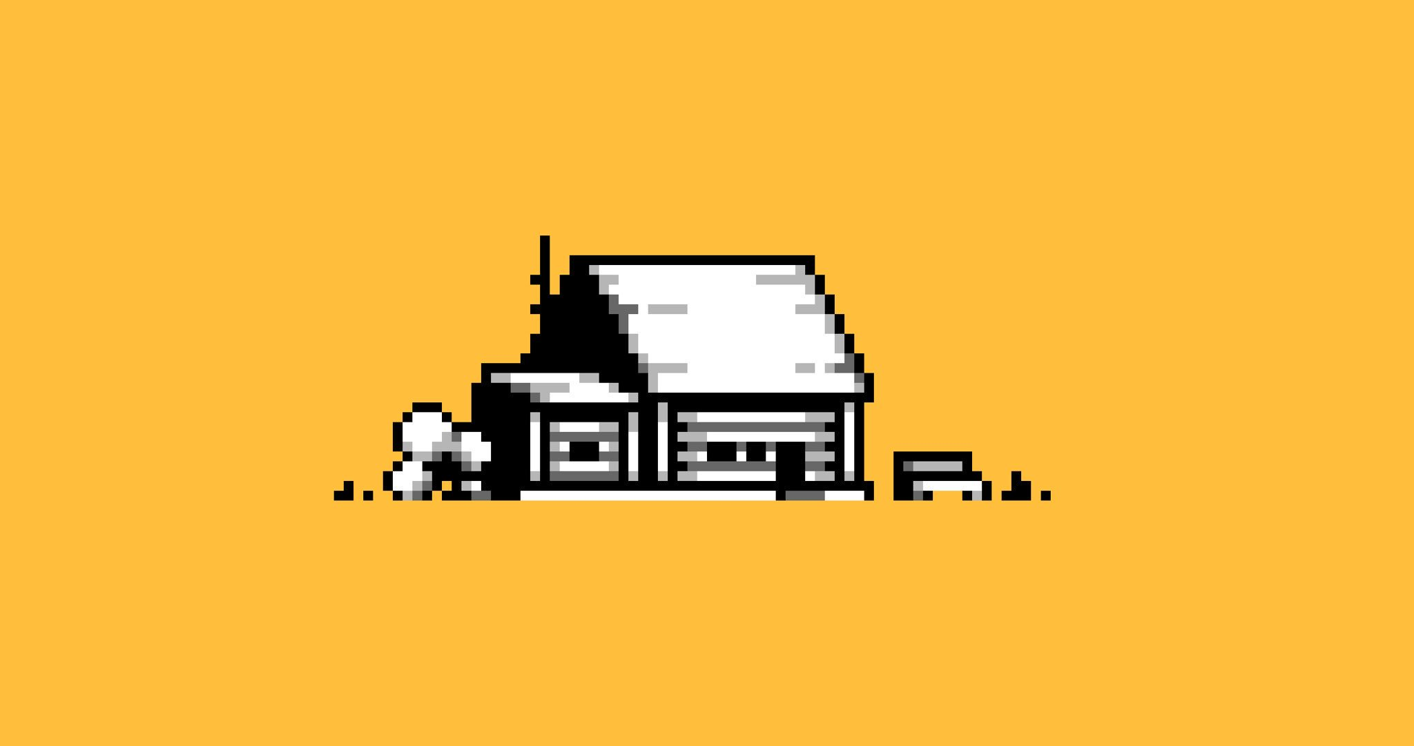 Pixel Art - Monochrome House