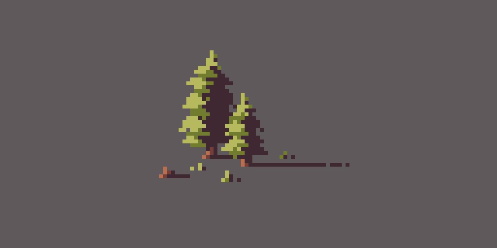 Pixel art - Pine Trees