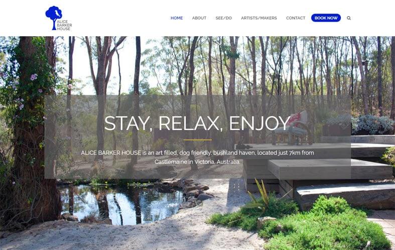 Website Design and Development: Alice Barker House