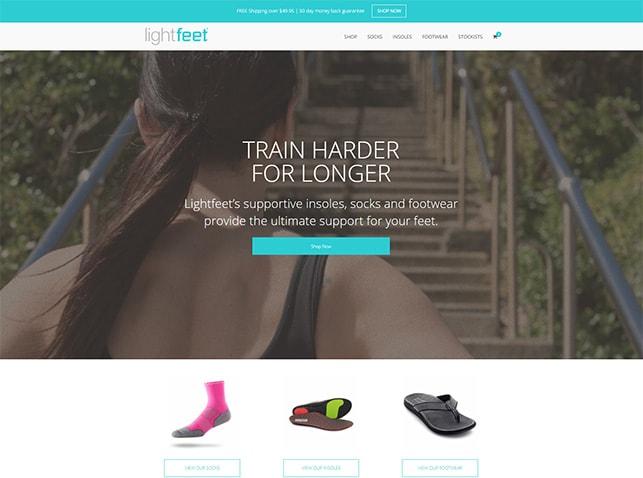 Website Design and Development: Lightfeet