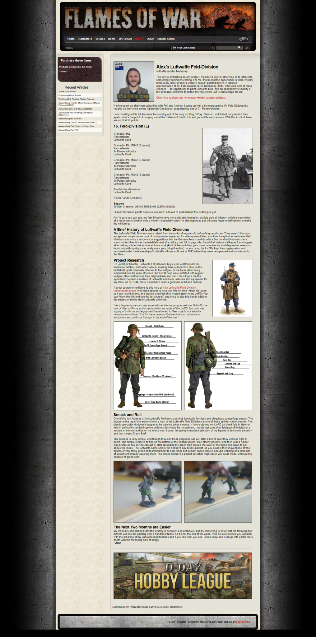 Written as part of an article series promoting the Flames Of War D-Day Hobby League for Battlefront Miniatures.